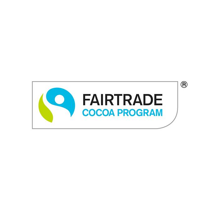 国際フェアトレード認証調達プログラムラベル(カカオプログラム版)